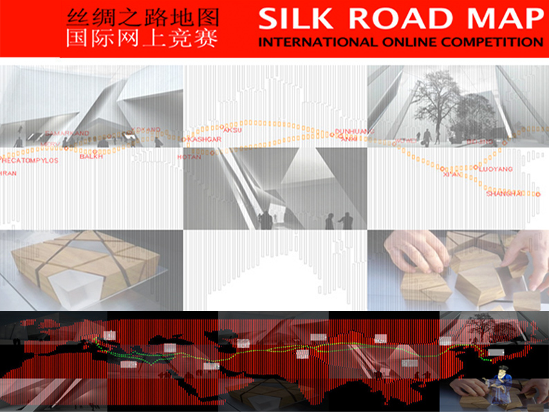 silk road map unesco. shanghai