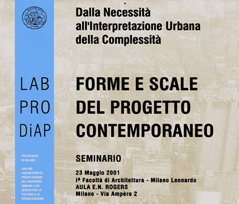 labpro research workshop. forms and scales of contemporary architecture