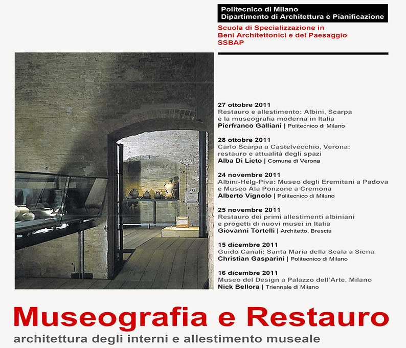 workshop museography restoration. milan