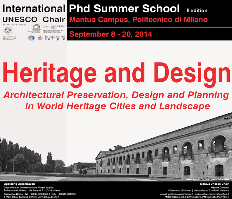 polimi phd. heritage and design. mantua